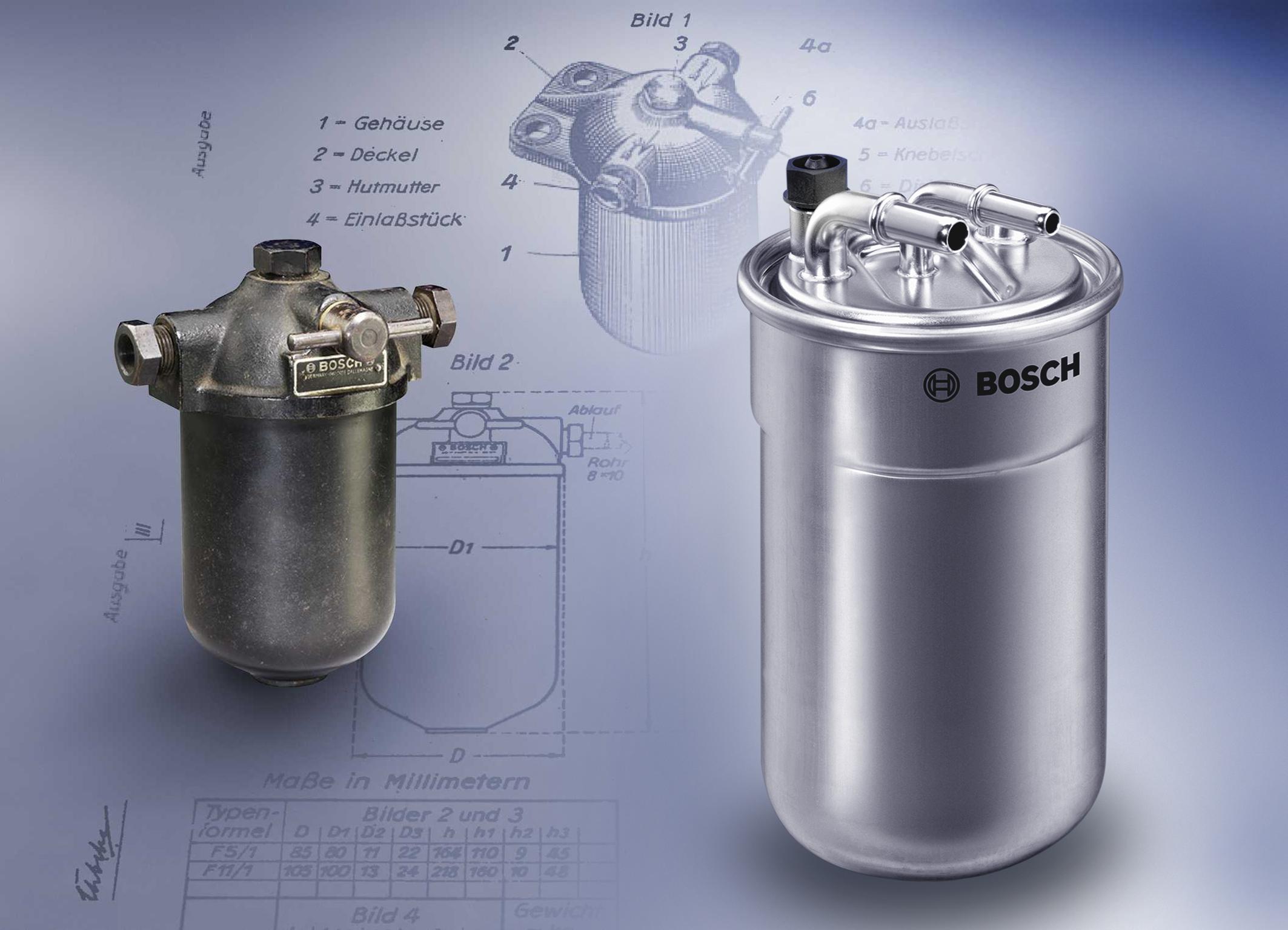 Секреты популярности: Топливные фильтры Bosch уже более 85 лет обеспечивают бесперебойную работу двигателей