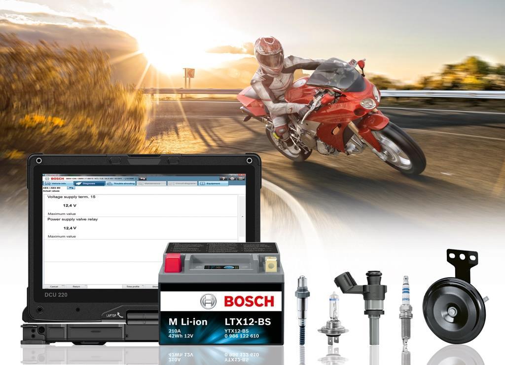 Открываем мотосезон: Bosch предоставляет мотосервисам всестороннюю поддержку в обслуживании и ремонте