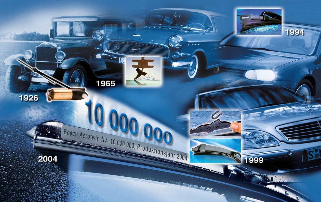 Восемь важных изобретений компании Bosch в сфере стеклоочистки автомобиля