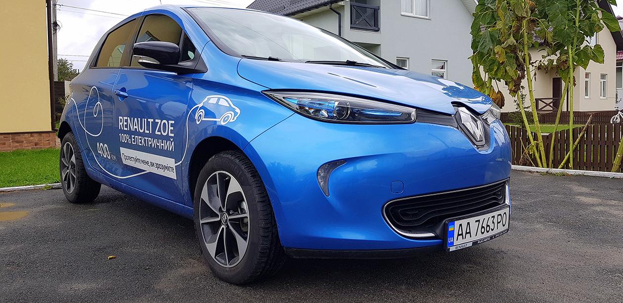 Электромобиль Renault ZOE как альтернатива дизельному Volkswagen Golf